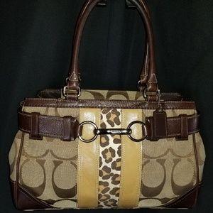 COACH Cuddle Me Cheetah Print Bag